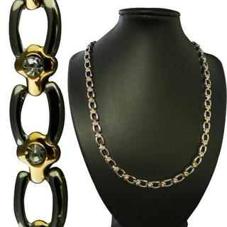 Goldtone and Silvertone Magnetic Horseshoe Necklace