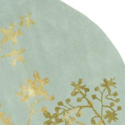 Safavieh Handmade Soho Autumn Light Blue New Zealand Wool Rug (6' Round)