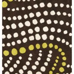 Safavieh Handmade Soho Waves Brown New Zealand Wool Rug (6' Round)