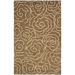 Safavieh Handmade Soho Roses Brown New Zealand Wool Rug (3'6 x 5'6')