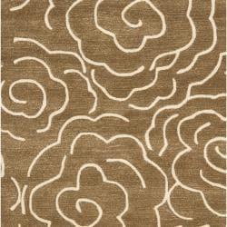 Safavieh Handmade Soho Roses Brown New Zealand Wool Rug (7'6 x 9'6)
