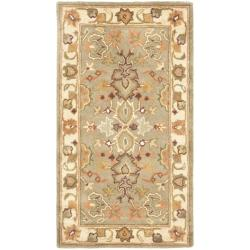 Handmade Heritage Oushak Light Green/Beige Wool Rug (2' x 3')