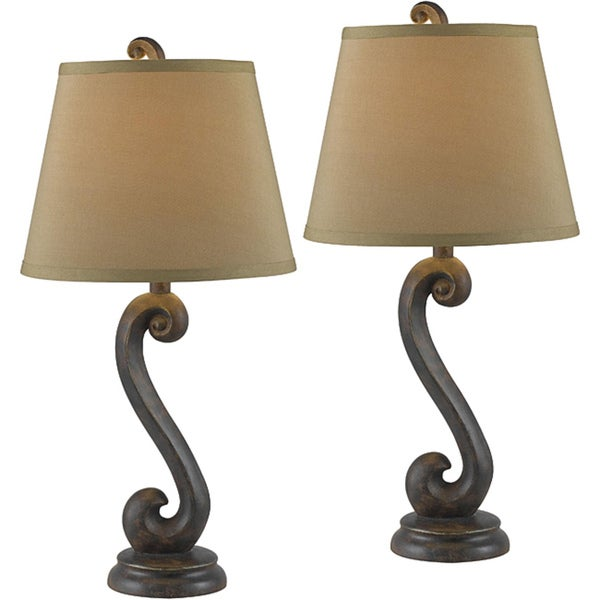 bronze table lamps lamp 2 piece set pair contemporary. Black Bedroom Furniture Sets. Home Design Ideas