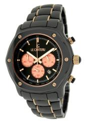Le Chateau Men's 'Persida LC' Rose Goldtone Ceramic Watch