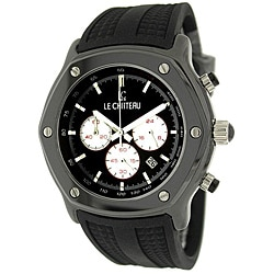 Le Chateau Men's 'Persida LC' Rubber Strap Watch