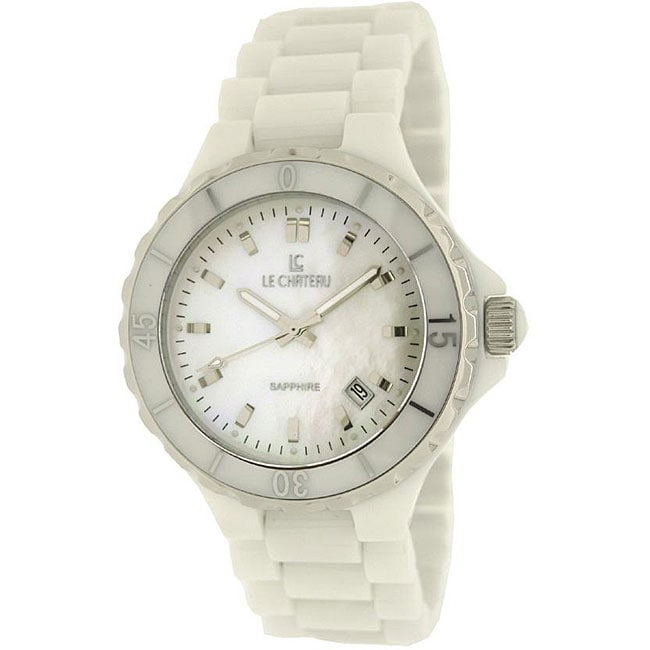le chateau womens white ceramic watch 13385176