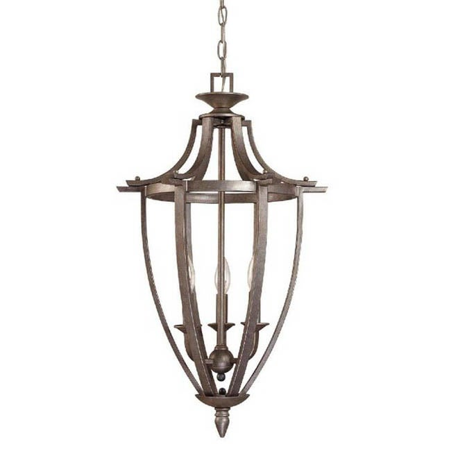 Coventry Pewter 3-light Cage Pendant