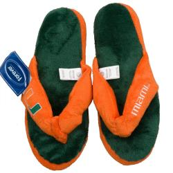 Miami Hurricanes Women's Flip Flop Thong Slippers