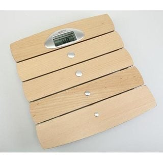 Weighmax Wood Finish Digital Bathroom Scale with LCD Screen