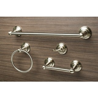 Sure-Loc Boulder Satin Nickel 4-piece Bathroom Accessory Set