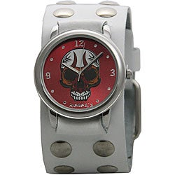 Nemesis Men's Red Fire Skull Watch