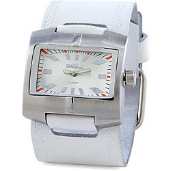 Nemesis Women's White Fantasy Leather Cuff Watch