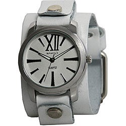 Nemesis Women's White Leather Band Watch