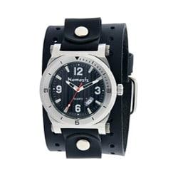 Nemesis Men's Black DateTracker Leather Band Watch