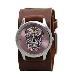 Nemesis Women's Pink Sugar Skull Watch