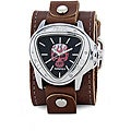 Nemesis Men's Triangle Brown Leather Strap Watch