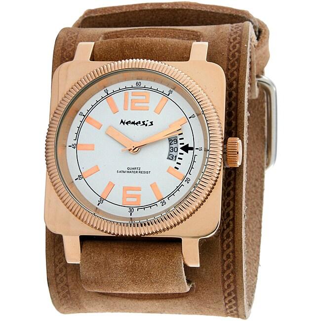 Nemesis Men's Classic Goldtone Square Watch