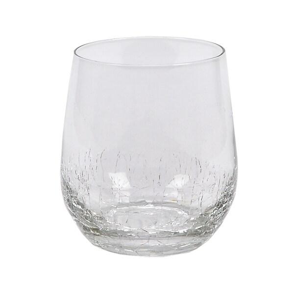Crackle Rocks Glasses (Set of 4)