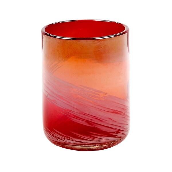 Impulse Red Pearl Rocks Glasses (Set of 4)