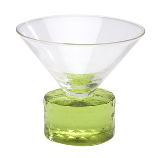 Chisel Coupe Green Martini Glass (Set of 4)