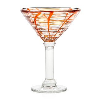 Impulse Abstract Orange Martini Glasses (Set of 4)