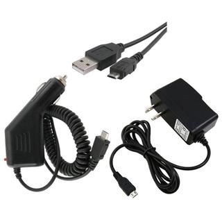 3-piece USB Data Cable/ Car and Travel Charger for Samsung i917 Focus
