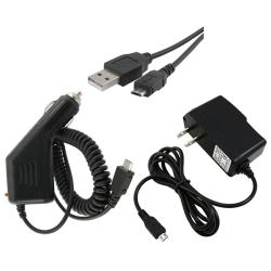 3-piece USB Data Cable/ Car and Travel Charger for HTC Desire HD