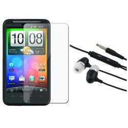 3.5mm In-ear Stereo Headset/ Screen Protector for HTC Desire HD