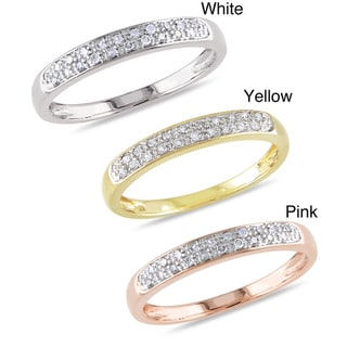 Miadora 10k Gold 1/10ct TDW Diamond Ring (G-H, I2-I3)
