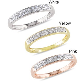 Miadora 10k Gold 1/10ct TDW Diamond Band  (G-H, I2-I3)
