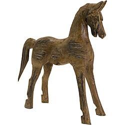 Hand-carved Wood Badan Horse Statue