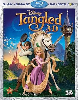 Tangled 3D (Blu-ray 3D / Blu-ray / DVD)