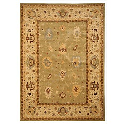 Handcrafted Karabagh Bay Leaf Wool Rug (7'10 x 11'2)