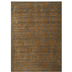 Himalaya Blue/ Brown Floral Wool Rug (7'10 x 11'2)