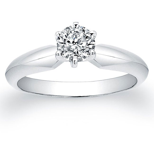 14k white gold 1 2ct tdw certified solitaire