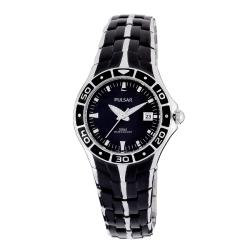 Pulsar Women's Black Ion Plated Finish Watch
