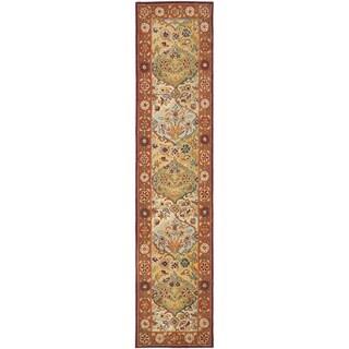Safavieh Handmade Heritage Bakhtiari Multi/ Red Wool Runner (2'3 x 16')