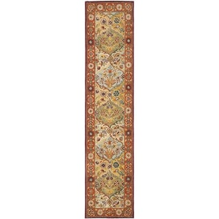 Handmade Heritage Bakhtiari Multi/ Red Wool Runner (2'3 x 16')