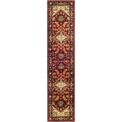 Safavieh Handmade Heritage Heriz Red/ Navy Wool Runner (2'3 x 16')