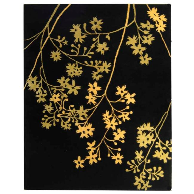 Safavieh Handmade Soho Autumn Black New Zealand Wool Rug (6' x 9')