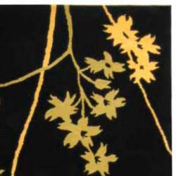 Handmade Soho Autumn Black New Zealand Wool Rug (6' x 9')