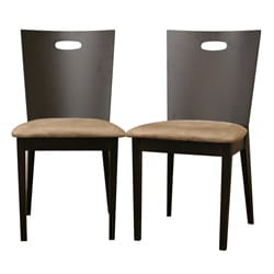 Baxton Studio Lamar Dark Brown Dining Chairs (Set of 2)