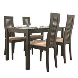 Farrington 5-piece Dark Brown Dining Furniture Set