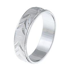 Sterling Essentials Rhodium Plated Silver Unisex Ring