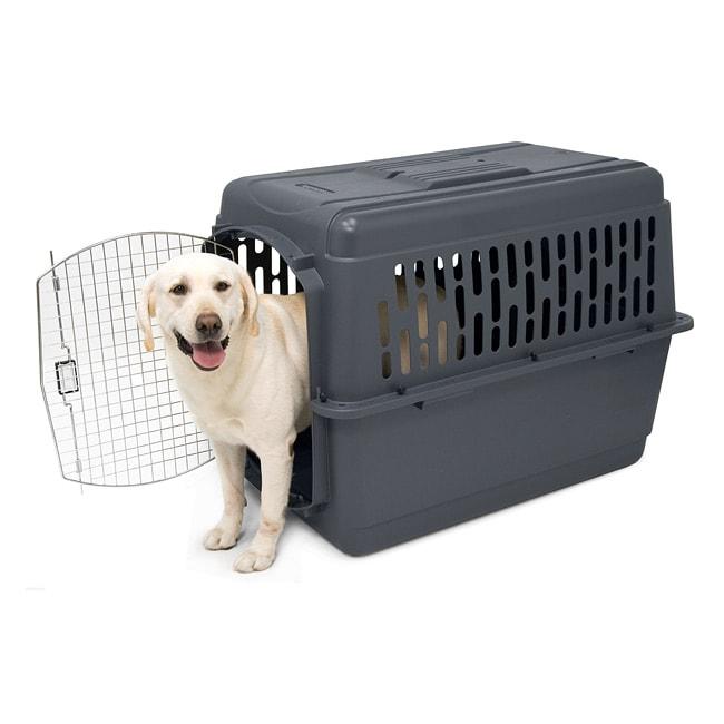 Pet porter ii extra large 3 door abs portable dog kennel for Extra large portable dog kennel