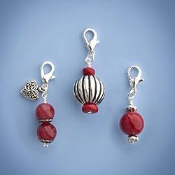 Fashion Forward Red Trio Charms (Set of 3)
