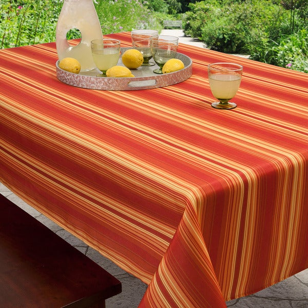 Cabana Stripe Rectangle Indoor Outdoor Stain Resistant
