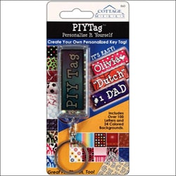 Personalize It Yourself Key Chain Tag -