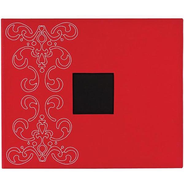 American Crafts Crimson Embroidered Flourish 3-ring Album (12x12)