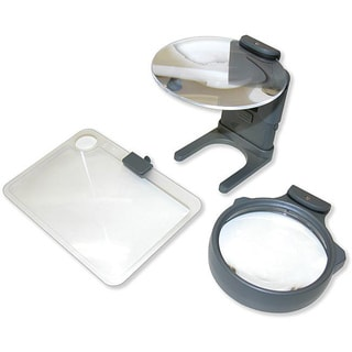 Carson Optical Hands-free 3-lens Hobby Magnifier with Neck Cord